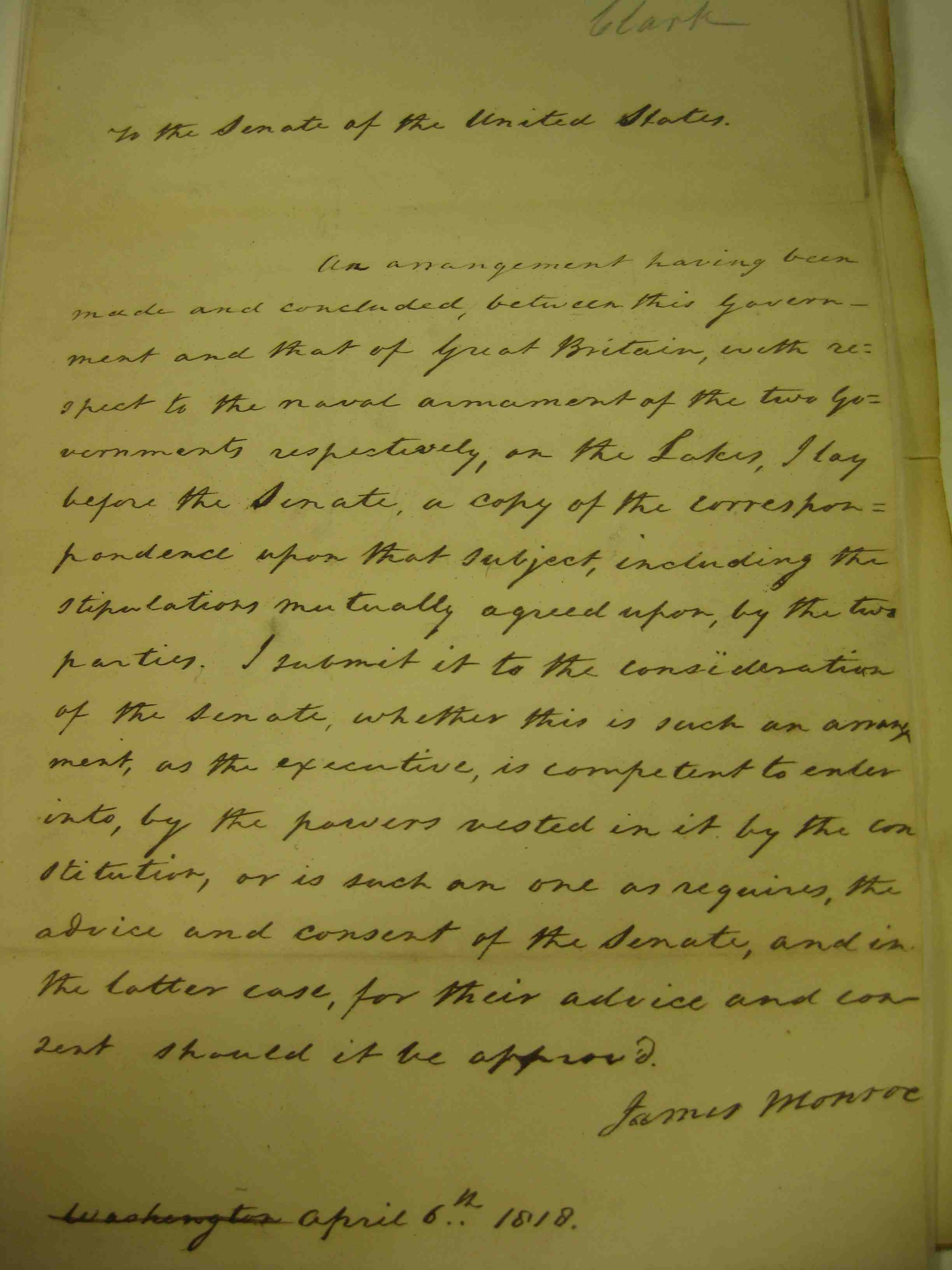 The Rush Bagot Treaty 1818 Rice On History