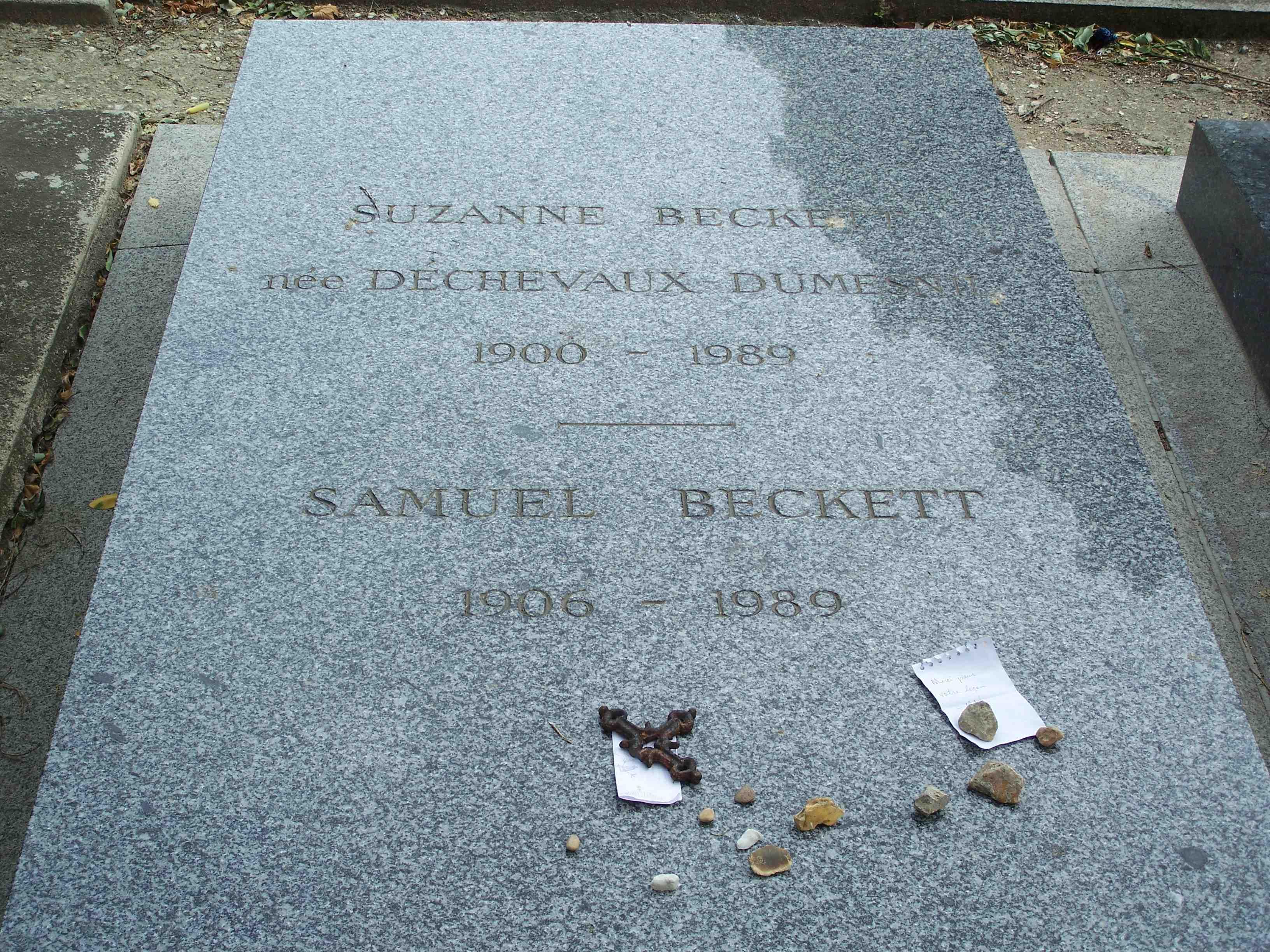 Резултат с изображение за Samuel Beckett grave